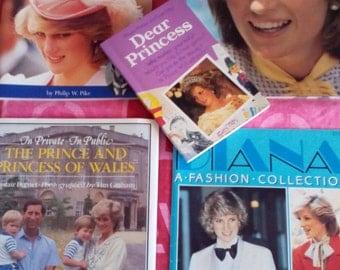 REDUCED Princess Diana Bundle of Vintage Books