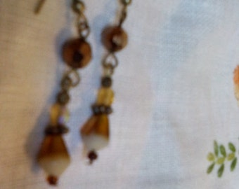 Lovely Brown beads Earrings