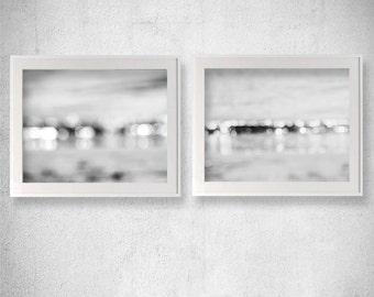 Bathroom Photography Abstract Photography Bokeh Photography Black and White Photography Sparkle picture Gray Wall decor Discounted Print Set