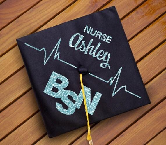 Items Similar To Custom Nursing Graduation Cap Decal