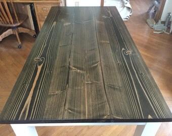 Custom Farmhouse Dining Table or Kitchen Table, Wood