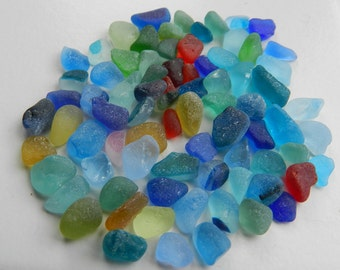 Small and Bright Sea Glass Chips for Craft