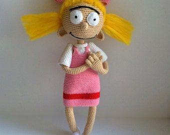 Helga Pataki By Hey Arnold, PDF CROCHET PATTERN, Instant Download, Amigurumi