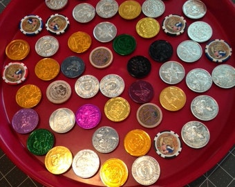 Mardi Gras Doubloon Magnets