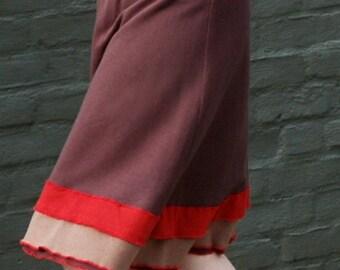 FREE SHIPPING Bamboo French Terry Drop Yoke Waist Long Ruffle Skirt