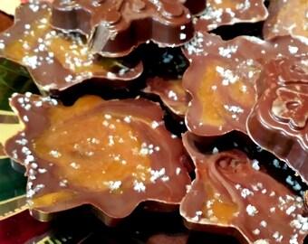 Gourmet Dark Chocolate Caramel Sea Salt Bark