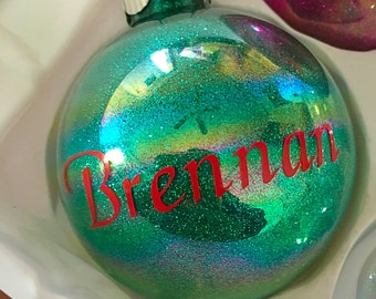 Personalized Christmas Ornament - Name Ornament - Glitter Ornament -  Christmas Tree Ornament - Holiday Ornament