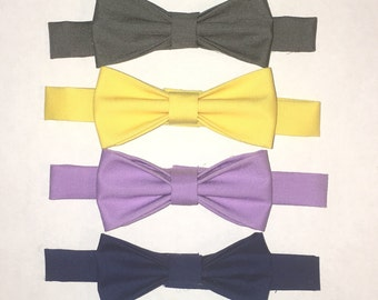 Little Boy Bow ties - solid colors