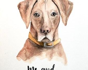 Custom Pet Portrait | Watercolor | 9 x 12