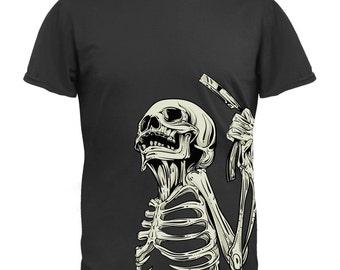 Skeleton Barber T-Shirt