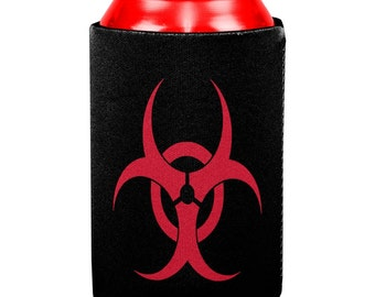 Zombie Biohazard Symbol All Over Can Cooler