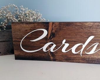 Wedding Card Sign, Rustic Wedding Sign, Wood Sign