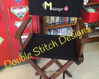 Teacher chair, teacher appreciation gift, gift from class, director chair, personalized, elementary school teacher, embroidered *COVERS ONLY