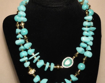 Turquoise Rock Stone Necklace