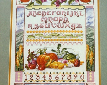 Harvest Sampler Marie Barber Cross Stitch Kit Gifts of Nature Fall Thanksgiving