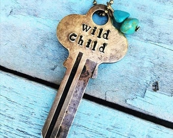 Wild Child Key Necklace