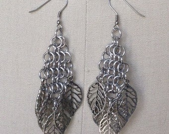 Diamond Chain Maille Earrings