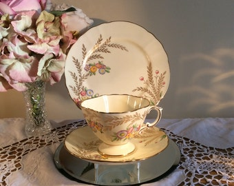 Hammersley China Cup Saucer & Sideplate Trio