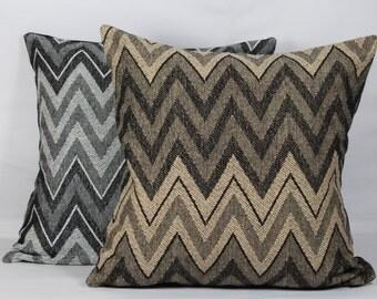 Zig zag geometric pillow cover 20x20 white black beige pillow cover 24x24 pillow cases standard pillow covers 16 x 16 pillow covers 22 x 22