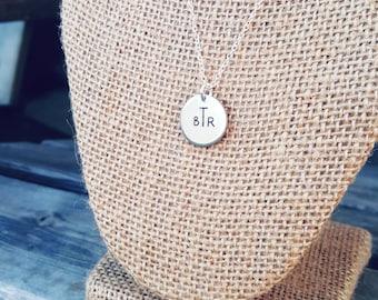 Monogram Circle Necklace