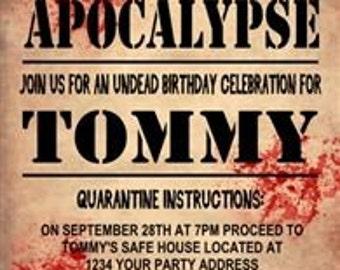 Zombie Party Invitation(2) - Digital File