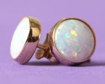GIRLS stone EARRINGS Opal