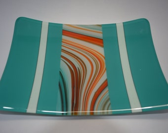 Fused glass sushi plate