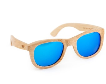 Brown Bear Wooden Sunglasses, Bamboo Sunglasses, Groomsmen Gifts, Personalized and Customized Sunglasses