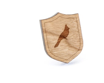 Robin Lapel Pin, Wooden Pin, Wooden Lapel, Gift For Him or Her, Wedding Gifts, Groomsman Gifts, and Personalized