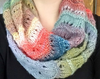 Waves of Color Circle Scarf