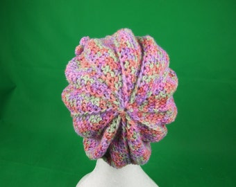 Ladies crochet beret