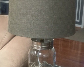 ONE Gallon Mason Jar Table Lamp