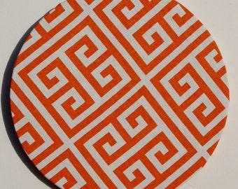 "10"" Cork Board in Tangerine Geometric"