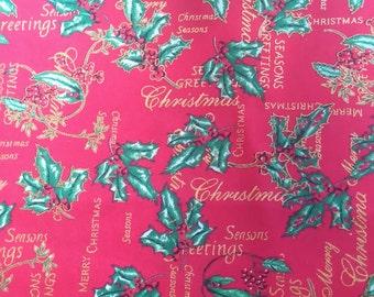 Christmas fabric fat quarter