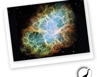 Crab Nebula Greeting Card, Blank Card, Space Stationery, Nebula Birthday Card, Any Occassion Card, Space
