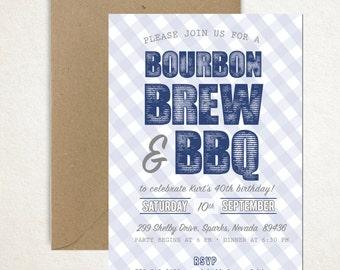 Bourbon, Brew & BBQ invitation