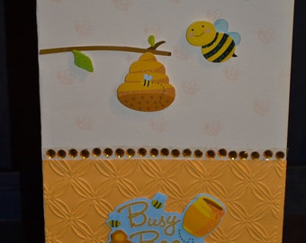 Unique Busy Bee Homemade Card