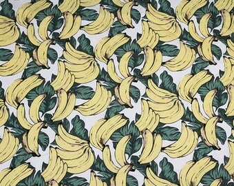 0.5 meter , pure Cotton Printed Fabric, Banana pattern Fabric, Fashion fabric, fabric for Dress, wide 55.11 inch (3-281)
