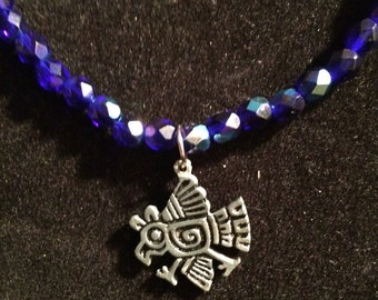 Partidas blue bird necklace