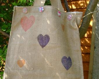 Hessian  shopping bags