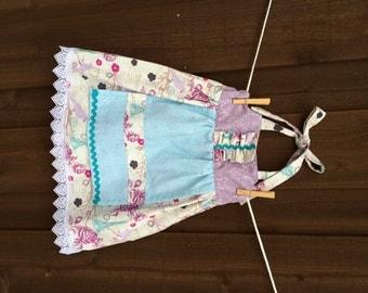 Ruffled apron dress 2T