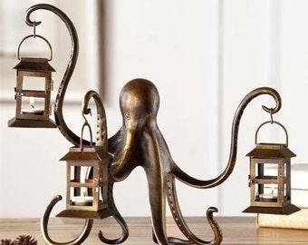 Octopus Whimsical Candle Lantern
