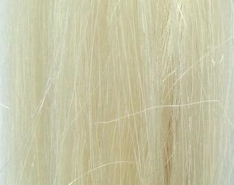 8 Inch Clip-in 100% Human Hair Extension Highlight / Streak Platinum Blonde