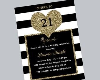 Birthday Invitation Th Th Th Th Birthday Invitation - 21st birthday invitations gold coast