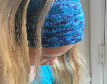 100 Wool Felt Headband, Ear Warmer, Felt Headband, 100% Wool Felt Headband, Wide Boho Headband, Boho Wide Headband, Boho Headband Wide