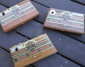 Kick Style Cigar Box Stomp Box - Ashton Crown Cigar Box