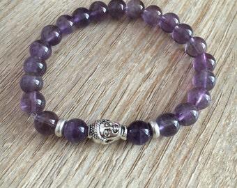 Amethyst Buddha Healing Bracelet