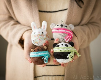 Amigurumi Teddy & Bunny Ornaments Crochet Pattern