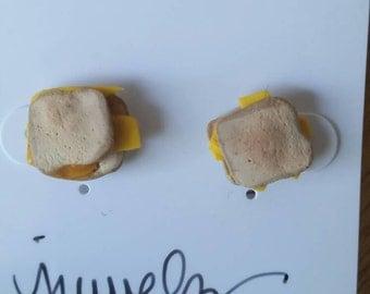 Grilled cheese stud earrings-CGS1/2