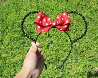 Beaded Minnie Mouse Ears